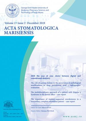 Acta Stomatologica Marisiensis - NUMĂRUL CURENT*